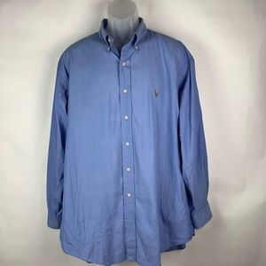Polo Ralph Lauren Yarmouth Mens Blue 17.3/4 Shirt